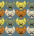 colorful pattern with angry bat with fangs in vector image vector image