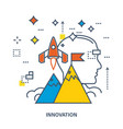 concept of start up business and innovation vector image vector image