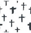 cross symbols seamless pattern grunge hand drawn vector image vector image