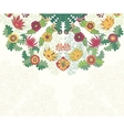 Decorative floral ornament invitation card vector image vector image