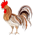 depicting a colored rooster vector image