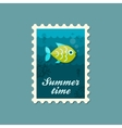 Fish stamp Summer Vacation vector image