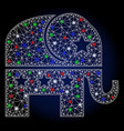 flare mesh network republican elephant with vector image vector image