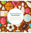 Flat Sport and Fitness Pattern Background vector image