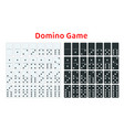 full set of white and black dominoes isolated on vector image