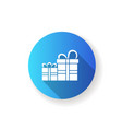 gift store flat design long shadow glyph icon vector image