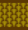 gold wave pattern background vector image