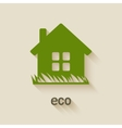 green house eco symbol vector image