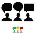 group of people with speech bubbles vector image vector image
