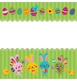 Happy Easter greeting card 2 vector image vector image