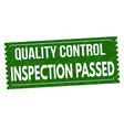 inspection passed grunge rubber stamp vector image vector image