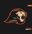 lion roar logo vector image vector image