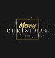 merry christmas phrase in frame with golden vector image vector image