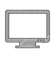 monitor computer desktop isolated icon vector image vector image