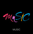 music lettering template vector image