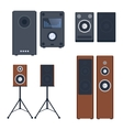 Music systems set vector image