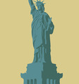 New York the Statue of Liberty on a light vector image vector image