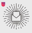 open envelope simple icon emblem isolated on grey vector image