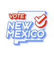 presidential vote in new mexico usa 2020 state vector image vector image