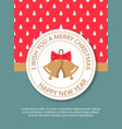 retro decorative christmas bells christmas vector image vector image