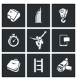 Roofer icons set vector image vector image