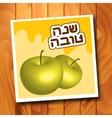Rosh Hashanah Jewish New Year greeting card vector image vector image