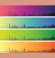 san francisco multiple color gradient skyline vector image vector image