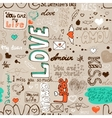 Seamless love letter pattern vector image vector image