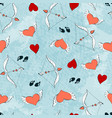 seamless pattern for valentine s day or the day vector image vector image
