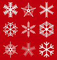 set christmas decorated snowflakes vector image vector image