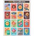 set colorful sale flyers best creative design vector image