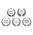 Set of quality wreaths for retail vector image vector image