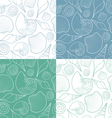 set patterns with shells vector image vector image