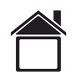 silhouette house home construction structure icon vector image vector image