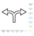 split arrow left right icon vector image vector image