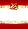 stylized christmas card template vector image vector image