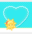 sun and heart vector image vector image