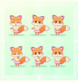 sweet kitty little cute kawaii anime cartoon fox vector image vector image