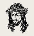 the face of the lord jesus passion vector image vector image