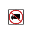 usa traffic road signs no truck allowed vector image vector image