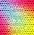 Vibrant polygonal background vector image vector image