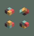 Vintage cube symbols vector image vector image