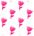 Watercolor seamless pattern with pink tulips vector image vector image
