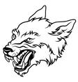 werewolf black vector image vector image