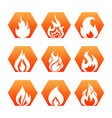 white fire flame on colorful backdrop - fire flame vector image