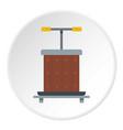 wine press icon circle vector image vector image