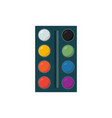 oil painting palette isolated design on vector image