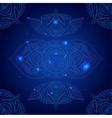 Chakra Ajna on a Dark Blue Background vector image