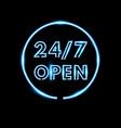 realistic open neon sign banner vector image