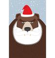 Russian Santa Claus-bear Wild animal with beard vector image